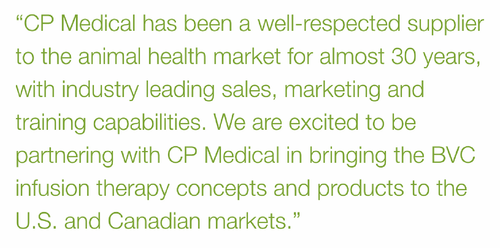 CP Medical Brings B. Braun's Veterinary Infusion Therapy Products to the North American Marketplace
